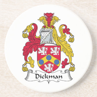 Dickman Family Crest Beverage Coaster
