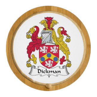Dickman Family Crest Round Cheeseboard