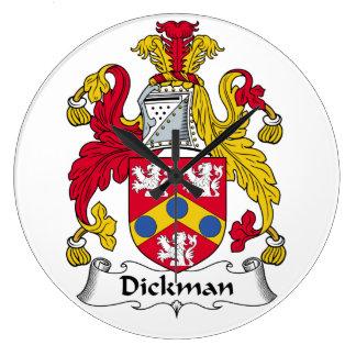 Dickman Family Crest Wallclocks