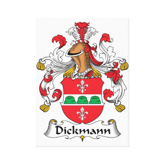 Dickmann Family Crest Stretched Canvas Prints