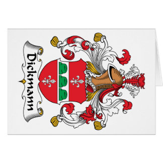 Dickmann Family Crest Greeting Cards