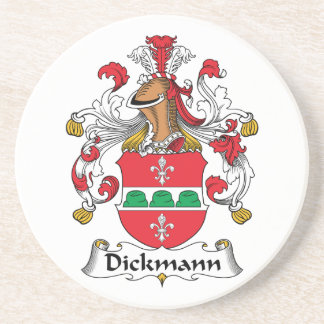 Dickmann Family Crest Beverage Coaster