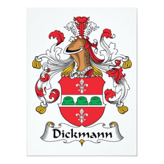 Dickmann Family Crest Personalized Invitations