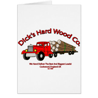 Dicks Hard Wood Logs Company Spoof Card