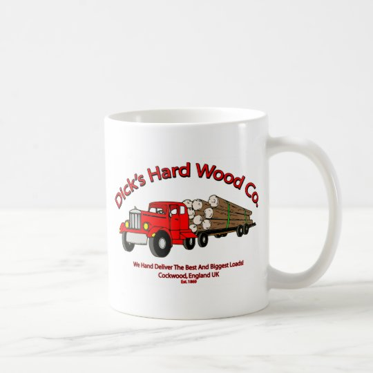 Dicks Hard Wood Logs Company Spoof Coffee Mug