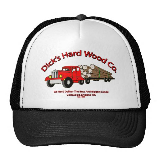 Dicks Hard Wood Logs Company Spoof Trucker Hat