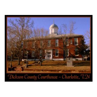 Dickson County Courthouse - Charlotte, TN Postcard