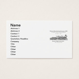 Dickson Switching Locomotive 1886 Business Cards
