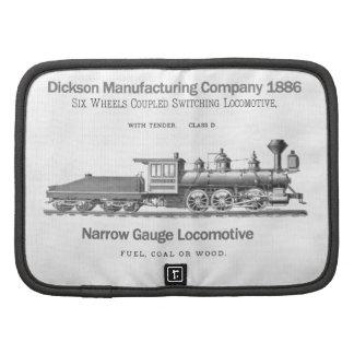 Dickson Switching Locomotive 1886 Folio Mini Organizer