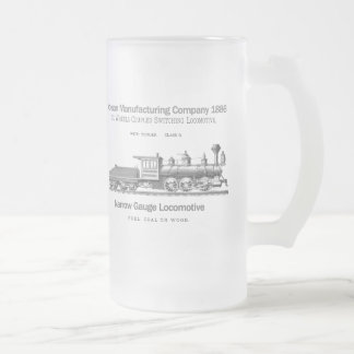 Dickson Switching Locomotive 1886 Frosted Glass Beer Mug