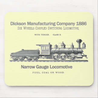 Dickson Switching Locomotive 1886 Mouse Pad