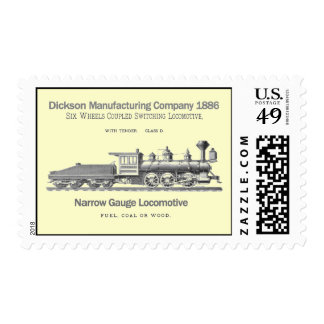 Dickson Switching Locomotive 1886 Stamps