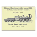 Dickson Switching Locomotive 1886 Stationery Note Card