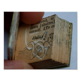 DicofrAngle Miniature Book cut down Drawing Poster