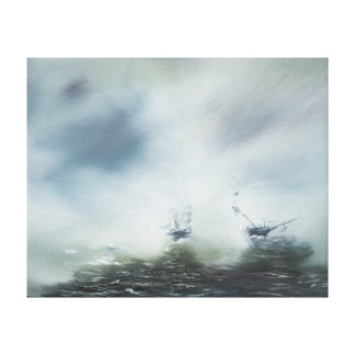 Dicovery a clearing in the sea mist Captain Canvas Print