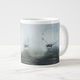 Dicovery a clearing in the sea mist Captain Giant Coffee Mug