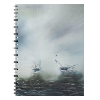 Dicovery a clearing in the sea mist Captain Notebook