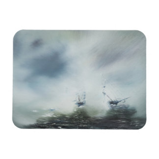 Dicovery a clearing in the sea mist Captain Rectangular Photo Magnet