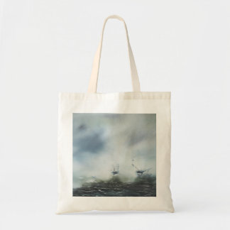 Dicovery a clearing in the sea mist Captain Tote Bag