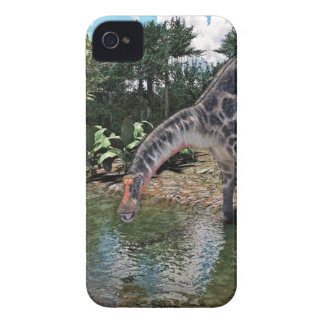 Dicraeosaurus Dinosaur Feeding on a River iPhone 4 Case-Mate Case