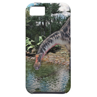 Dicraeosaurus Dinosaur Feeding on a River iPhone SE/5/5s Case
