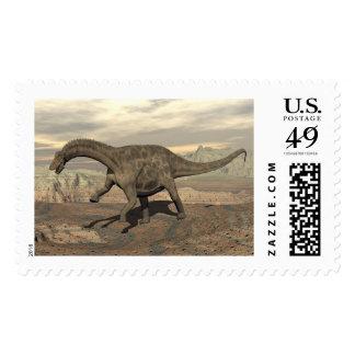 Dicraeosaurus dinosaur walking - 3D render Postage