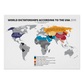 Dictaduras del mundo según los E.E.U.U. Póster