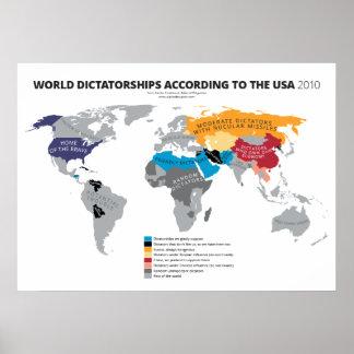 Dictaduras del mundo según los E E U U Posters