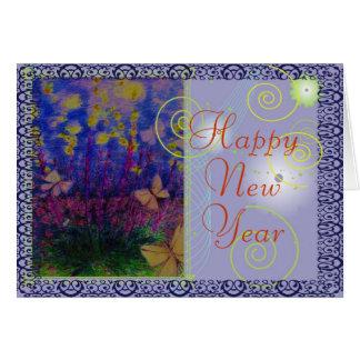 Dictamnus  firework plant greeting card