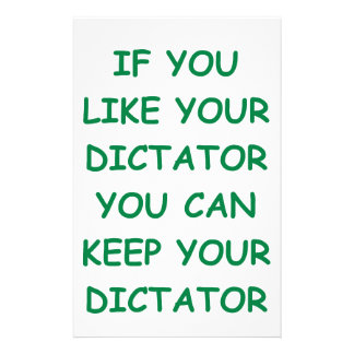 dictator stationery design