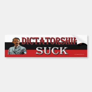Dictatorships Suck Car Bumper Sticker