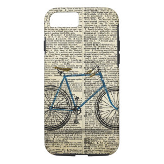 DICTIONARY Art Blue Bicycle Bike Vintage iPhone 7 Case