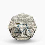 """DICTIONARY Art Print Blue Bicycle Bike Vintage Award<br><div class=""""desc"""">Vintage picture of a bicycle given a bright blue frame and collaged onto a scanned image of a 100 year old dictionary page with the definition of &quot;bicycle&quot;. The overall image has an aged patina.</div>"""