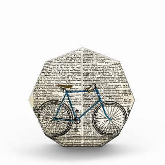 DICTIONARY Art Print Blue Bicycle Bike Vintage Award