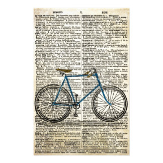 DICTIONARY Art Print Blue Bicycle Bike Vintage Stationery