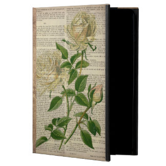 dictionary french country botanical white rose iPad air cover