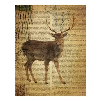 Dictionary print outdoorsman whitetail buck Deer Letterhead