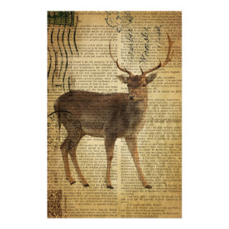 Dictionary print outdoorsman whitetail buck Deer Stationery
