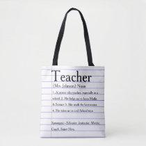 Dictionary teacher tote bag. Reasons you love