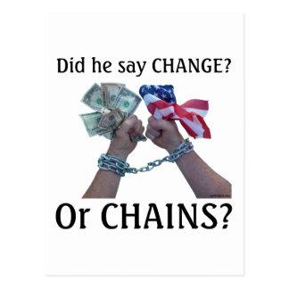 Did he say CHANGE? Postcard