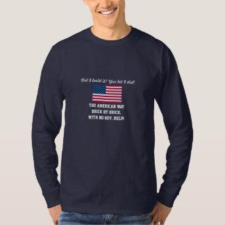 DID I BUILD IT?-YOU BET I DID!-U.S. FLAG T-Shirt
