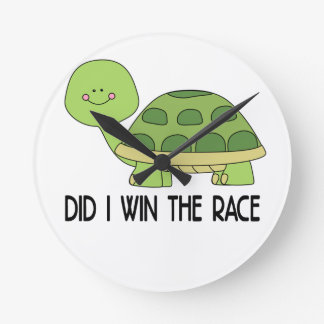 Did I Win The Race.png Round Clock