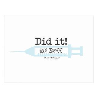 Did it! RN 2011 Nurse Graduate Postcard