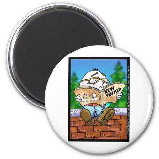 Did New Yorker Kill Humpty Dumpty? Cartoon Gifts 2 Inch Round Magnet