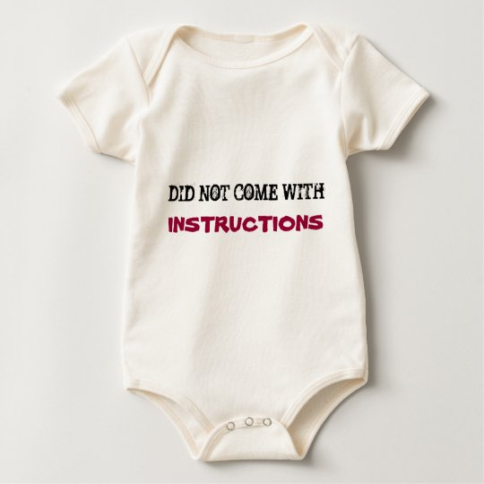 DID NOT COME WITH, INSTRUCTIONS baby sleeper Baby Bodysuit