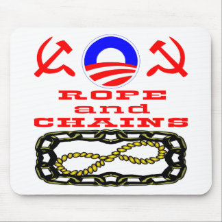 Did Obama Say Hope & Change or Rope & Chains Mouse Pad