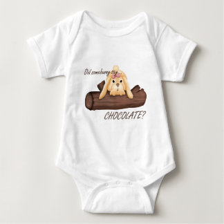 Did Somebunny Say CHOCOLATE Infant Baby Bodysuit