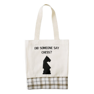 Did Someone Say Chess? Zazzle HEART Tote Bag