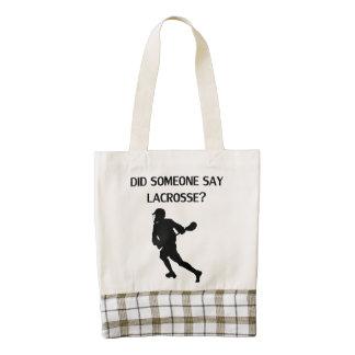 Did Someone Say Lacrosse? Zazzle HEART Tote Bag