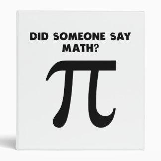 Did Someone Say Math? Vinyl Binders
